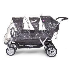 Regenverdeck für Sechsersitz-Kinderwagen