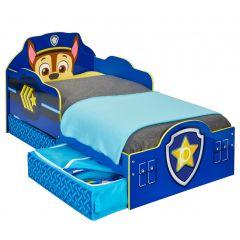 Kinderbett (70 x 140cm) mit Paw Patrol Motiv und Schubladen