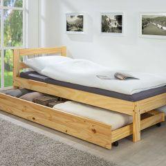 Bettkasten 200cm für Betten Interlink - natur