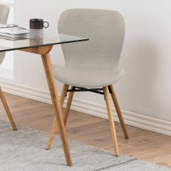 Batilda - A1 dining chair - sand, oak;black - set of 2