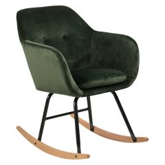 Emilia rocking chair - forest green, oak;black