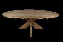 Ovaler Esstisch mit Schrittfuß - 220x110 cm - natur - Teakholz