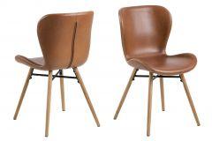 Batilda - A1 dining chair - brandy, oak;black - set of 2