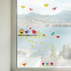 Fensteraufkleber Vögel auf einem Ast