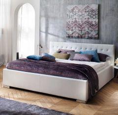 Gedempt bed Sandra Comfort - 200x200 cm - Wit