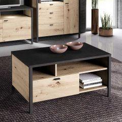IN-LOFT 66 - Couchtisch - Artisan Oak Nb/Stahl dunkel