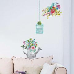 Wandsticker Romantische Blumen