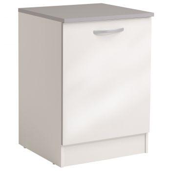 Basiseinheit Löffel 60 cm mit Tür - glänzend weiß