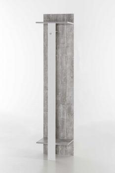 Garderobenpaneel Lake mit Hängemöglichkeit - Beton / Weiß Melamin Dekor