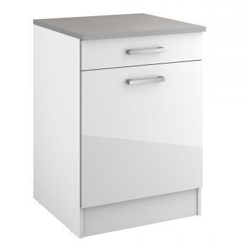 Unterschrank Eli 60 cm mit Schublade und Tür - weiß