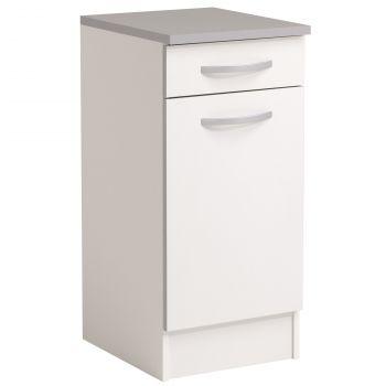 Basiseinheit Löffel 40x47 cm mit Schublade und Tür - weiß
