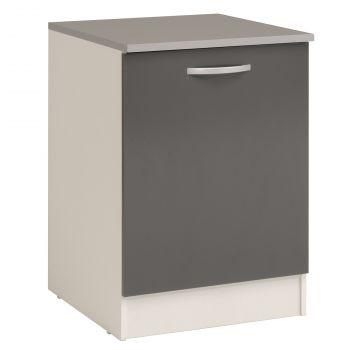 Unterschrank Eko 60 cm mit Tür - grau