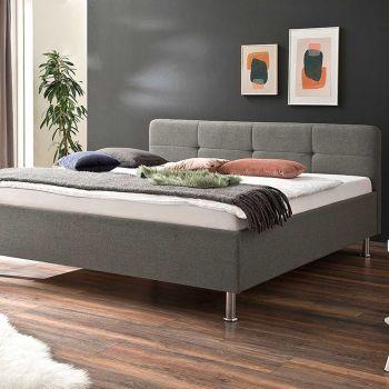Bett Azis 180x200 mit Metallfüßen - grau