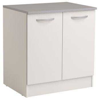 Basiseinheit Löffel 80 cm mit 2 Türen - weiß