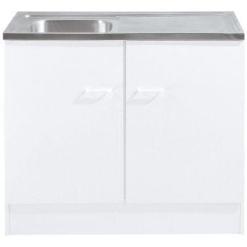 Basiseinheit Bingo 100 cm mit Waschbecken - weiß