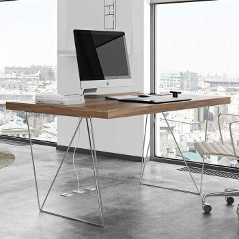 Tisch Multis - Nussbaum/Chrom