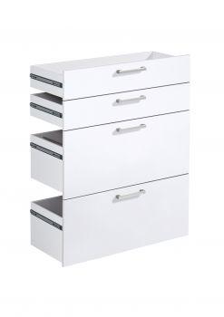 4 Schubladen Gabi - hochglanz weiß