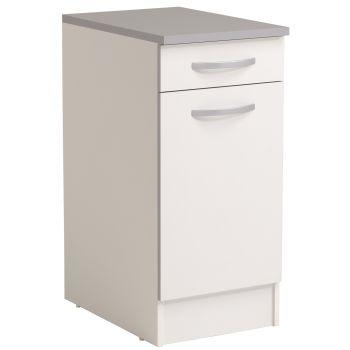 Basiseinheit Löffel 40x60 cm mit Schublade und Tür - weiß