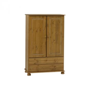 Kleiderschrank Ramund niedrig 2 Türen und 2 Schubladen - braun