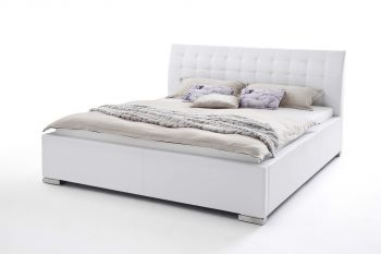 Gedempt bed ISA Comfort - 200x200 cm - Wit