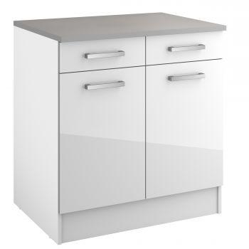 Basiseinheit Eli mit 2 Schubladen und 2 Türen - weiß