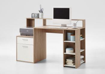 Büro Elton - Eiche / Weiß