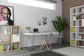 Multis Tisch 180cm - weiß/schwarz