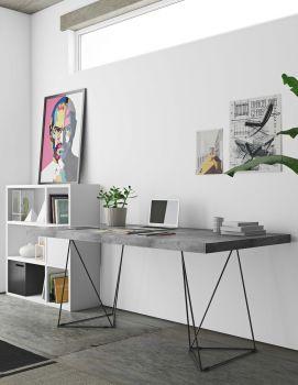 Multis Tisch 160cm - Beton/Schwarz