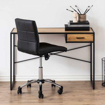 Sideboard/Büro Dover 110cm 1 Schublade - schwarz/Wildeiche
