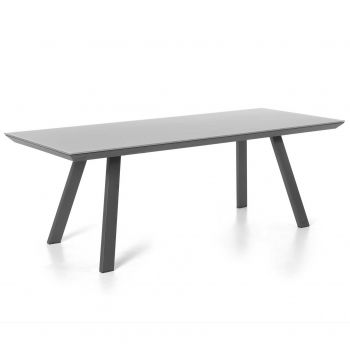 Versace table 220x100 alu charcoal glass lightgrey