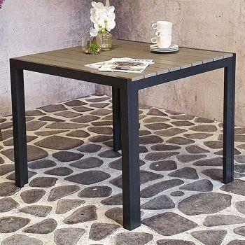 Gartentisch Jersey 90x90 - schwarz