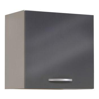 Hängeschrank Löffel 60 cm - glänzend grau