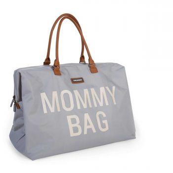 Mommy Bag Gross Grau/Altweiss