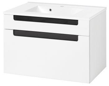 Siena 80cm Waschtischunterschrank - weiß/anthrazit