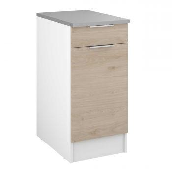 Unterschrank Löffel 40x60 cm mit Schublade und Tür - Eiche