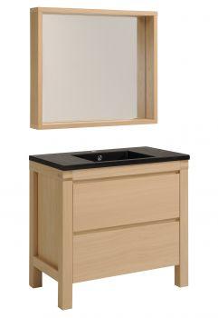 Waschbecken und Spiegel Erwin 90 cm