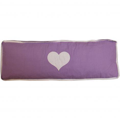 Kissen violett/weißes Herz