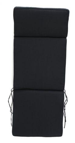 Verstellbarer Gartenstuhl mit Kissen - schwarz