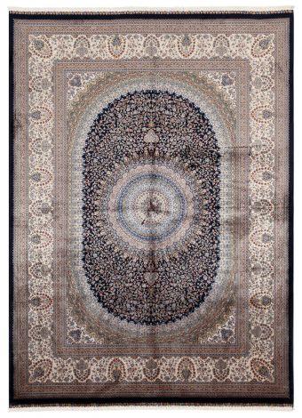 Teppich Qoum Shah 5 Marine 230x160