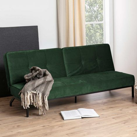 Perugia sofa bed - black, forest green