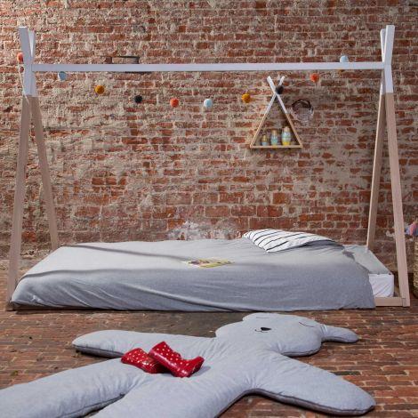 Tipi Jugendbett 90x200 cm - natur/weiß