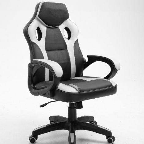 Gaming-Stuhl Matt - weiß/schwarz