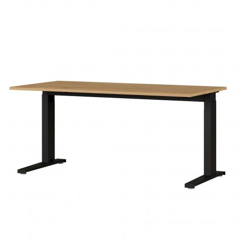 Osmond 160cm Schreibtisch, manuell verstellbar - Eiche/schwarz