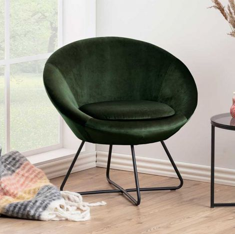 Center resting chair - matt black, forest green