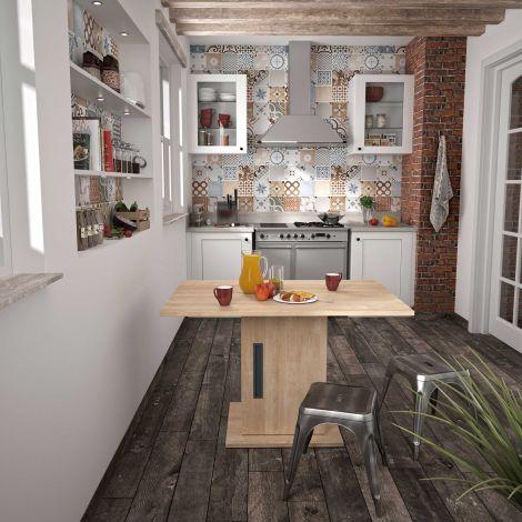 Tisch mit Ablagefach Bosy 80x120 - Eiche blond