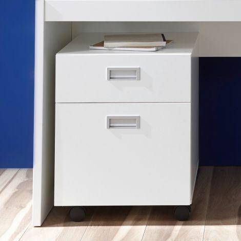 Schubladenschrank Arkea mit 1 Schublade und 1 Tür - weiß