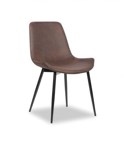Set mit 2 Stühlen Monaco - braun