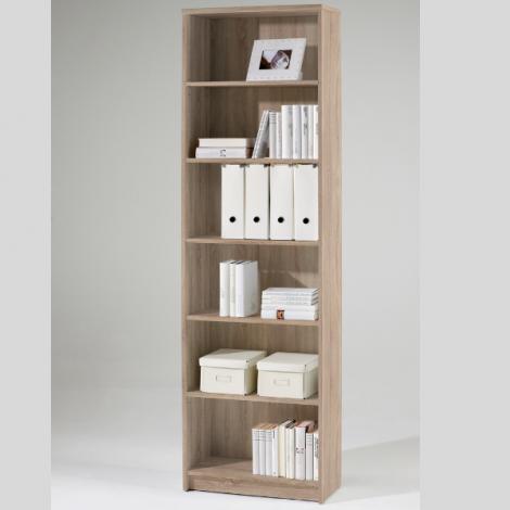 Bücherregal Brysse 60x202cm - Eiche