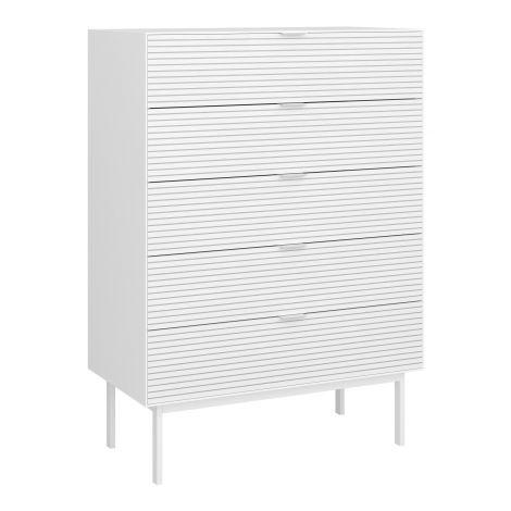 Dresser SOMA 017 - Dresser with 5 drawers - WHITE/WHITE