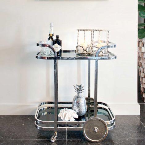 Trolley Exo - Silber/Glas